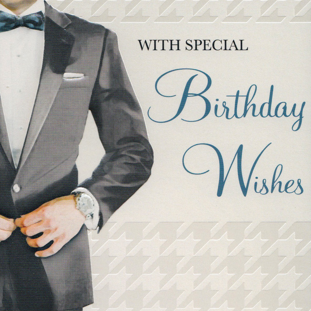 Stylish Mens Birthday Card-BC04 - Stylish Gifts