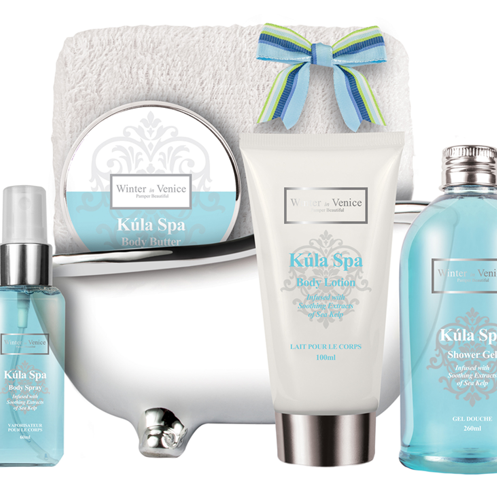 stylish gifts kula spa indulgent bath tub gift set. Black Bedroom Furniture Sets. Home Design Ideas