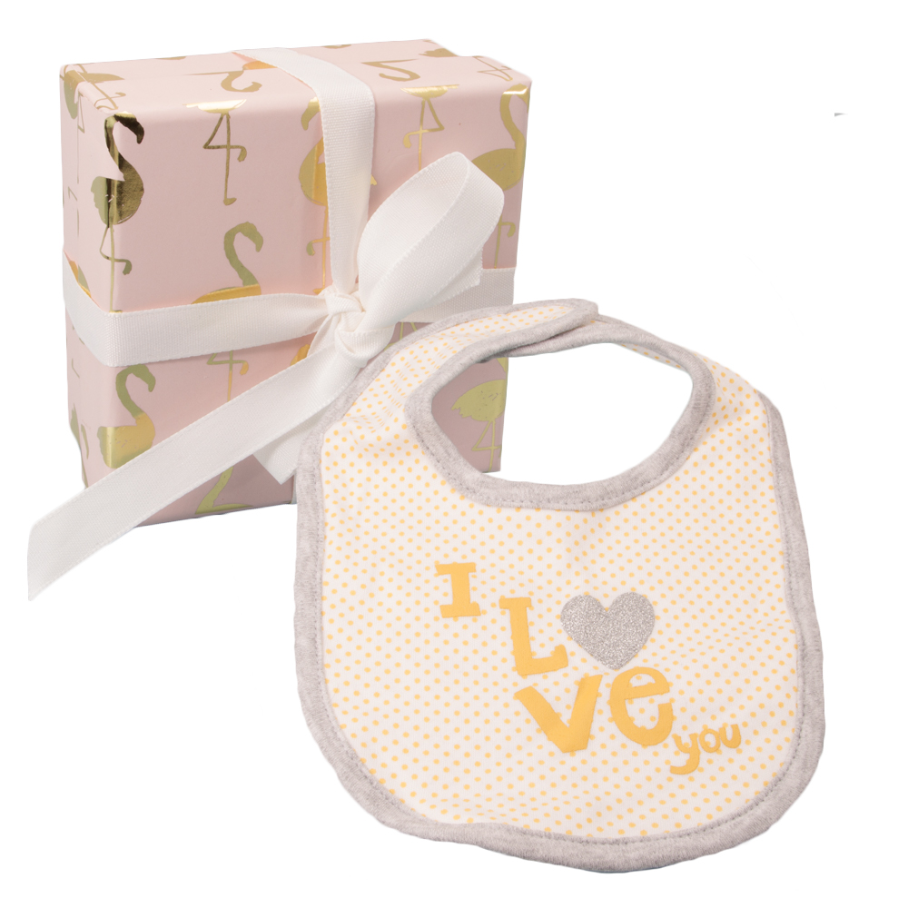 Baby Girl Gift Box : Baby girl bib gift box available from stylish gifts