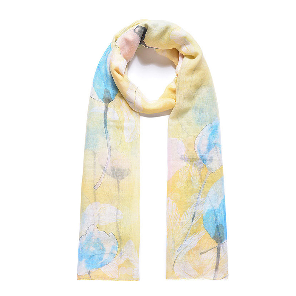 floral yellow blue scarf available online from stylish gifts